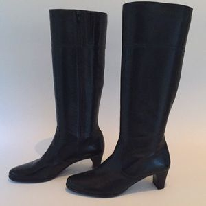 Cole Haan Tall Black Leather Boot